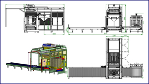 G2 with stacker and conveyor drawing