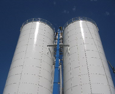 Flat Panel Bolted Storage Silos